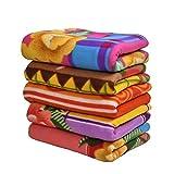 Shivaan Home Furnishing Multipurpose Polar Fleece Single Bed Printed Fleece Blanket (Set of 5)-Assorted Multicolor(Light Weight)