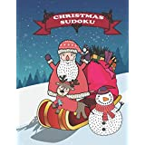 Christmas Sudoku: Christmas Santa Gift Puzzle Sudoku Book for Posh Adults, Teens , Grandma, Husband, Stuffers, Women, Men, Seniors and Kids. Large print size A4 with easy-medium-difficult-hard puzzles is a best logic holiday game ideas for shortz holiday