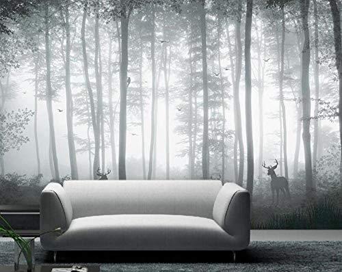3D wandbehang Fantasy met de hand geschilderd boom bos hert achtergrond wandbehang woonkamer 200*140 Onecolor