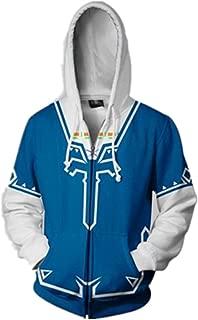 The Legend of Zelda Unisex Hoodie Sweatershirt Cosplay Costume Zip Up Coat