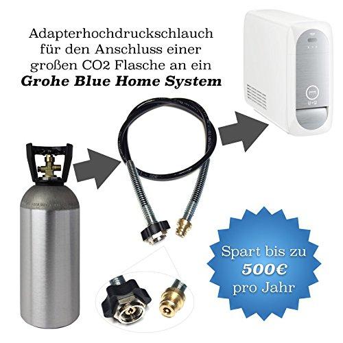 Adaptateur de tuyau haute pression 2,5 m pour des CO2 les bouteilles pour gazéifier Grohe Blue Home