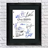 Game of Thrones Cast Autogramm Nachdruck 8,5 x 11 Schrift