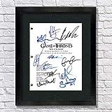 Game of Thrones Cast Autographed Signed Reprint 8.5x11 Script UNFRAMED - Kit Harington Emilia Clarke Maisie Williams Sophie Turner Peter Dinklage Lena Headey George RR Martin