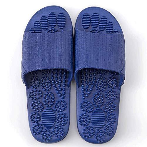 Zapatillas De Masaje De Acupresión Pantuflas De Hombre Sandalias De Reflexología Terapéutica para Masaje De Punto De Acupuntura De Pie Shiatsu Arco Alivio del Dolor Zapatos Antideslizantes para Baño