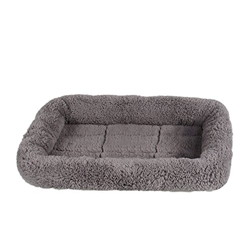 LESYPET Small Dog Crate Cotton Washable Mat Small Bed Cat Dog Mats Supplies Top