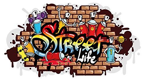 dekodino® Wandtattoo Graffiti Street Life Wandausbruch Wandsticker Jugendzimmer