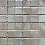 Mosaico sobre red de gres porcelánico de cerámica, fabricado en Italia – I Gioielli 95 beige