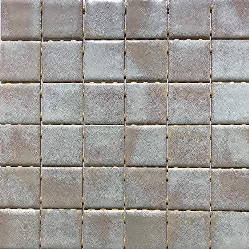 Mosaico su rete in gres porcellanato ceramico, Made in Italy - I GIOIELLI 95 BEIGE