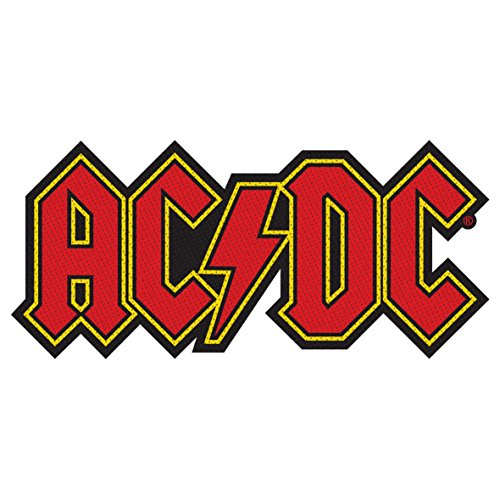 AC/DC Application Logo PATCH PARCHE, Officially Licensed Products Classic Rock Artwork Iron-On / Sew-On, Embroidered PATCH PARCHE