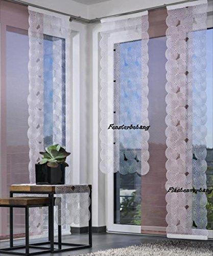 Viora Fensterbehang Boston-silber-128 x 45 cm (H/B)
