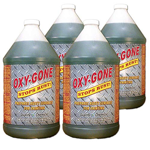 Oxy-Gone Rust Remover and Metal Treatment - just like Ospho - Prepares surfaces for painting-4 gallon case