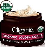 Cliganic USDA Organic Face Scrub, 100% Natural | Enriched with Jojoba, Aloe Vera...