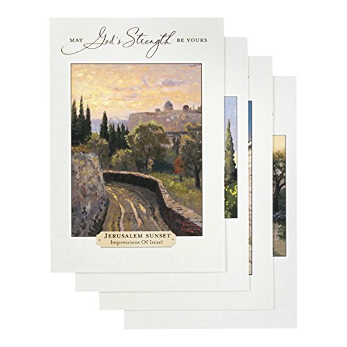 DaySpring Thomas Kinkade - Get Well - Inspirational Boxed Cards - God's Strength - 74869,Multi Color