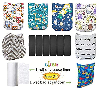 Lilbit 6 Pcs Pack Reusable Washable Adjustable Baby Cloth Diapers