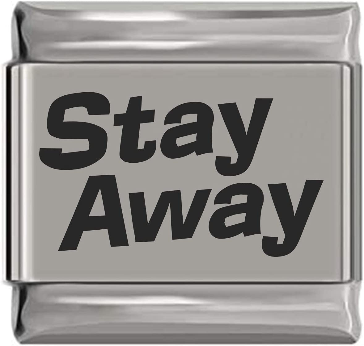 Stay Surprise Sales for sale price Away Laser Italian Engraved Charm