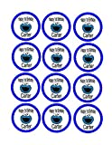 24 - Cookie Monster Labels, Cookie Monster Bag Tags, Cookie Monster Party, Cookie Monster Stickers, Cookie Monster Personalized Labels