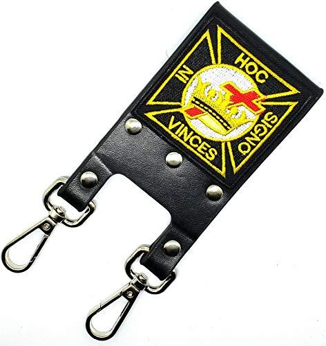 DEURA Knight Templar Masonic Belt Sword Scabbard Holder HOC SIGNO VINCES