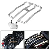 Coolsheep Motorcycle Rear Luggage Rack Back Fender Shelf for Harley Sportster XL883 1200 2004-2018 with Stock Solo Seat(Chrome)