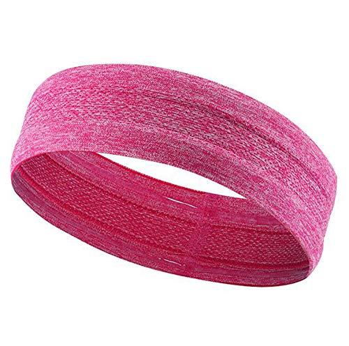MRACSIY Hoofdband Sport Zweetband voor Yoga Hardlopen Fietsen Basketbal-Rekbare Wicking Haarband voor hoofdomtrekken 48-68 CM (rood)