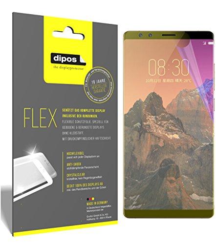 dipos I 3X Schutzfolie 100prozent kompatibel mit ZTE Nubia Z17S Folie (Vollständige Bildschirmabdeckung) Bildschirmschutzfolie