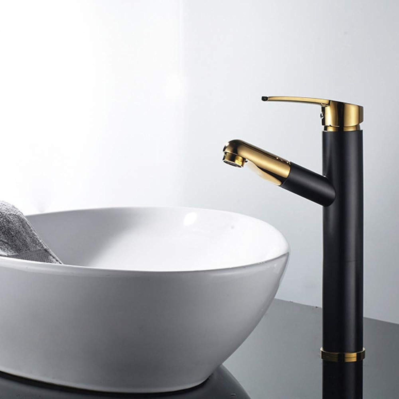Kupfer Warmes und kaltes Wasser Pull Becken Wasserhahn über Gegenbecken Wasserhahn Waschbecken Waschbecken Versenkbarer Wasserhahn Wr-001