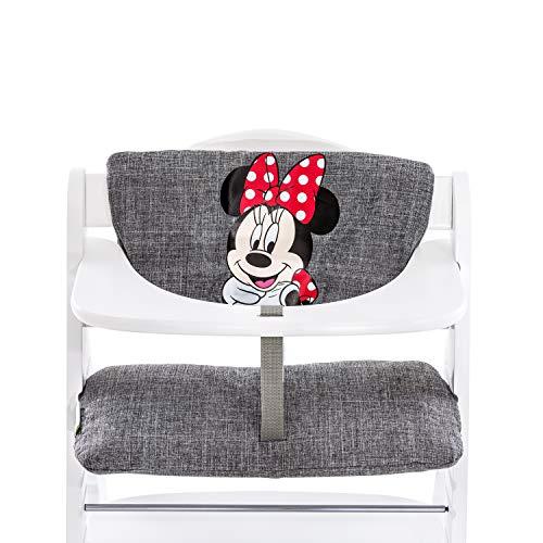 Hauck hochstuhlauflage Luxe Minnie – Coussin de siège, couleur gris