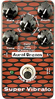 Aural Dream Super Vibe Guitar Effect Pedal with 4 modes and 6 waves reaching 24 Lush vibrato effects true bypass