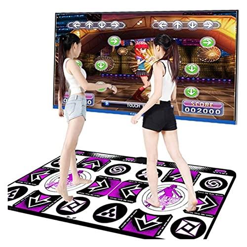 BANGHA Alfombra De Baile Tallas de Baile de 3 Colores para PC DE TV Guía de computadora Double Dance Mat Realiza Juegos de Control de Yoga Mats Fitness Dance Pad