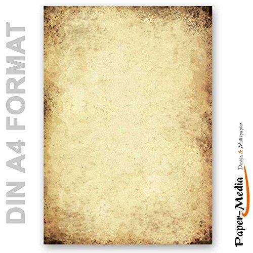 Motivpapier - Briefpapier ALTES PAPIER 50 Blatt DIN A4 90g/m²