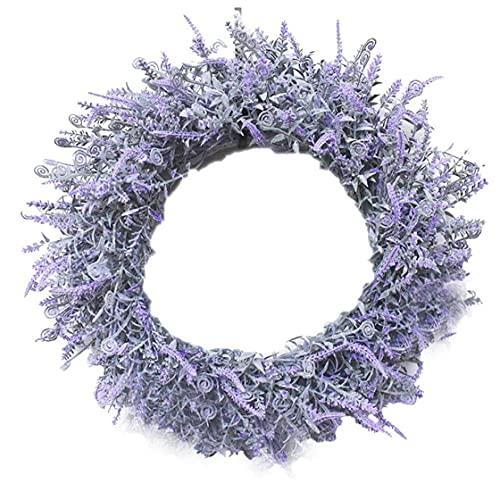 NaiCasy Puerta Guirnalda de la Flor de la Lavanda Garland Colgante Artificial Decoración para el contexto del Festival del Partido del hogar de la Boda Pared de la Ventana