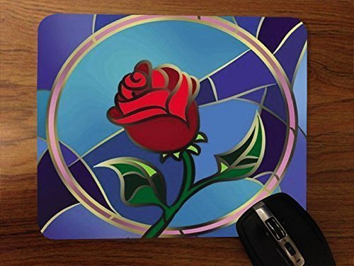 1 X Beauty And The Beast Rose Desktop Mouse Pad by Superior Printing