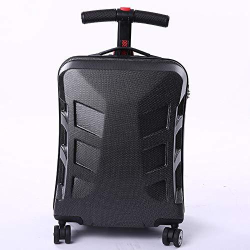 Houozon Skateboard trolley case scooter trolley case 21 inch koffer PC boarding koffer reistas mannen en vrouwen koffer handig en duurzaam