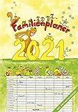 Familienplaner Cartoon 2021 - Bild-Kalender 24x34 cm - Family Planner - Wandkalender - mit Platz für Notizen - Alpha Edition: by Silke Leskien