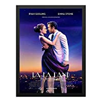 ハンギングペインティング - ララランド La La Land 2のポスター 黒フォトフレーム、ファッション絵画、壁飾り、家族壁画装飾 サイズ:33x24cm(額縁を送る)