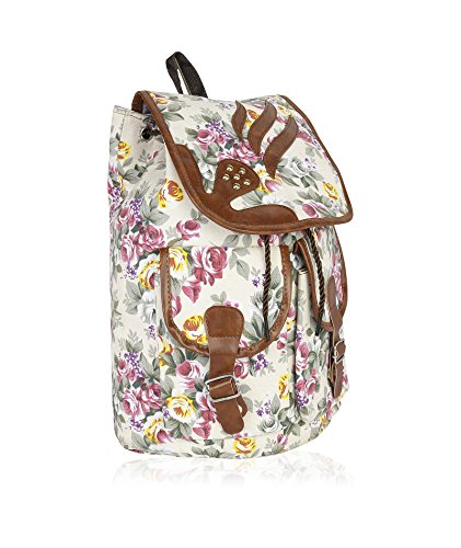 Kleio Women's Beautiful Floral Printed Backpack (Multicolour)