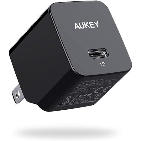 AUKEY 充電器 USB-C急速充電器 アダプタ 30W GaN (窒化ガリウム) 採用 折畳式/PD3.0対応 iPhone 12 / 12Pro / 12Pro Max/MiNi / iPhone 11 / 11Pro / 11Pro Max/ iPhone XS/XS Max/XR/X、GalaxyS9、MacBook Pro、iPad Pro、Nintendo Switchその他USB-C機器対応 PA-Y19 ブラック