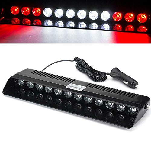 LED Emergency Strobe Lights Bar DIBMS 12W 12 Leds Car Truck Warning Flashing Hazard Light Windshield Light With Suction Cups Red White Red