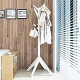 CENPEN Perchero de madera maciza para abrigos y sombreros para garaje, vestíbulo, oficina, armario, perchero de pie de madera ligera, portátil, torre