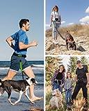 Joggingleine für Hunde von Nikkipet Verstellbarer, wasserabweisender Laufgürtel mit 2 Fächern & elastische, reflektierende 120 cm Leine & – Premium Flexi Jogging Hundeleine + Gürteltasche für große & mittlere Hunde - 4