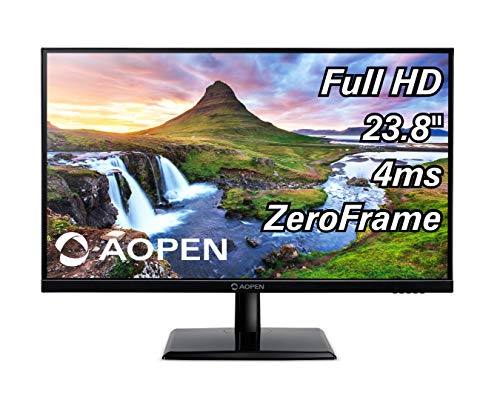 AOPEN 24CH2Y bix 23.8-inch Full HD (1920 x 1080) IPS Monitor 75Hz, 4ms (1 x HDMI & VGA Port), Black