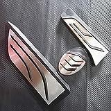 SBCX Accesorios para el automóvil, BMW X1 AT 2016, Pastillas de Pedal del reposapiés del Freno del Acelerador de Acero Inoxidable, Adhesivos de reabastecimiento de Combustible de Gas Antideslizante