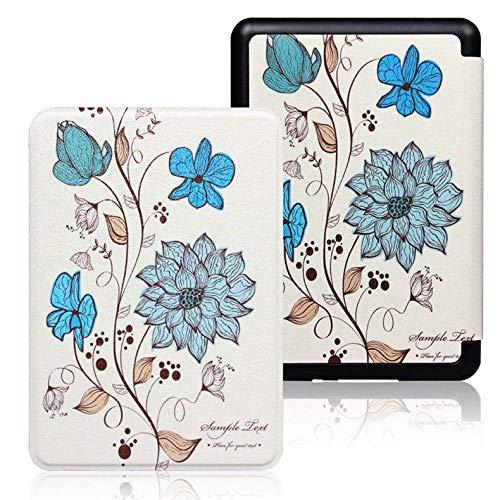 BENGKUI Funda Inteligente para Amazon Kindle Paperwhite 4 Cubierta para Nuevo Kindle Paperwhite 4 PU Leather Tablet Case para Paperwhite PQ94WIF, Flor exótica