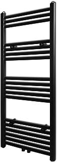 vidaXL Radiador toallero Recto Calefactor Central de baño 500 x 1160 mm Negro
