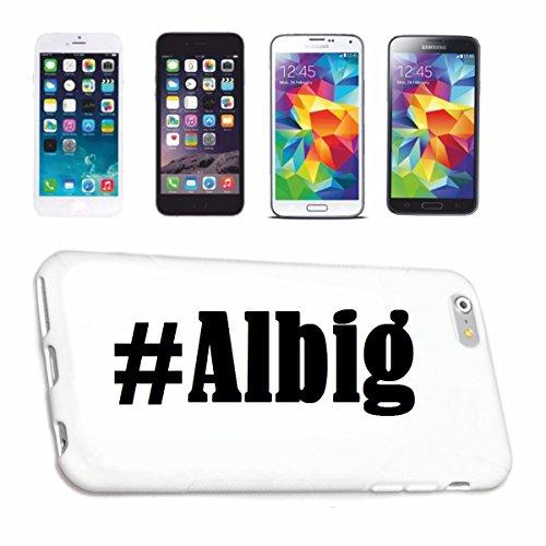 Reifen-Markt Handyhülle kompatibel für iPhone 6 Hashtag #Albig im Social Network Design Hardcase Schutzhülle Handy Cover Smart Cover