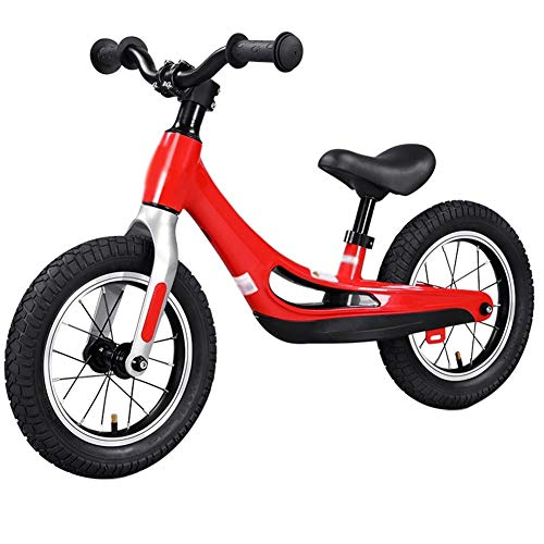 CQILONG Training Bicycle Lightweight Balance Bike Adjustable Seat Easy to Control Non-Slip Shock Absorbing Tire The Best Gift for Children, 2 Colors (Color : Red, Size : 90x50cm)