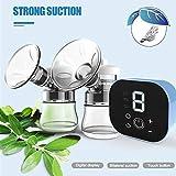 Extractor de leche eléctrico HPPLDouble Accesorios extractores de leche extractores automáticos inteligentes y potentes con USB BPA, azul
