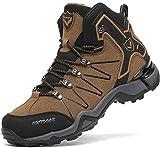 Chaussures de Randonnée Hautes Homme Bottes Trekking Outdoor Sport Sneakers pour Homme,Marron,39 EU (taille du fabricant 40)