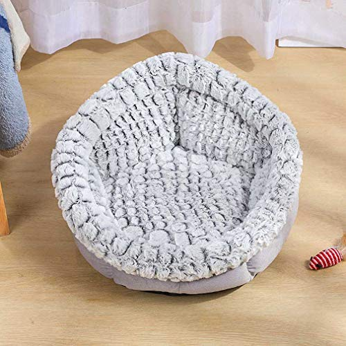 Hynsin Warm Cat Bed Round Pet Lounger Cushion for Small Medium Dogs Cattery Puppy Mattress Star Gray M