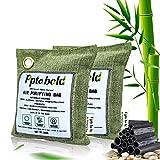 Carbón activo de bambú, deshumidificador natural, purificador de aire, purificador de aire para coche, elimina olores para habitación, absorbe la humedad 200Gx2
