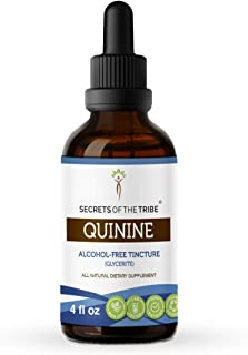 Secrets of The Tribe Quinine Alcohol-Free Tincture (Glycerite) 680 mg Wildcrafted Quinine (Cinchona officinalis) Dried Bar...